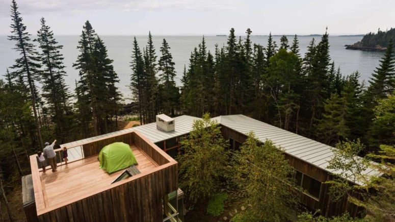 There's a terrace on top of the house that allows cool ocean views