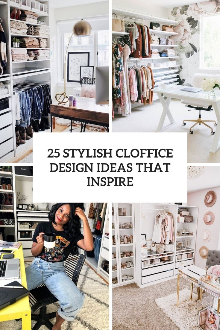stylish cloffice design ideas that inspire cover