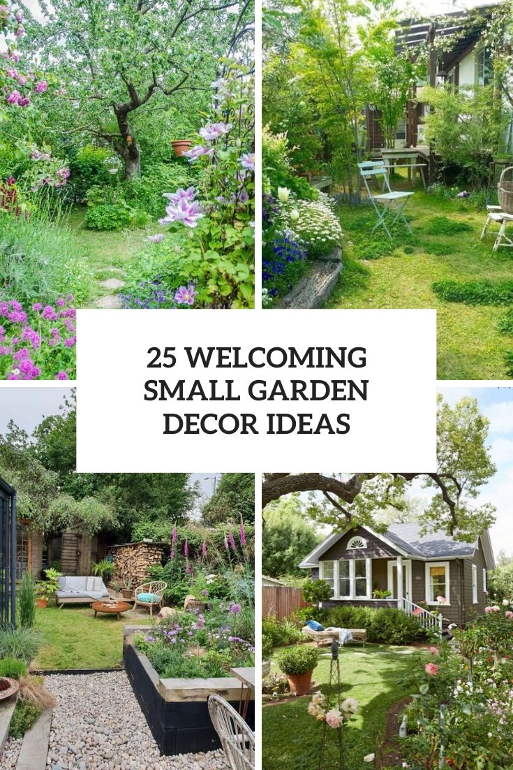 welcoming small garden decor ideas cover