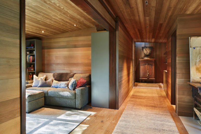 There's much natural wood cladding the interiors to make them warm and welcoming