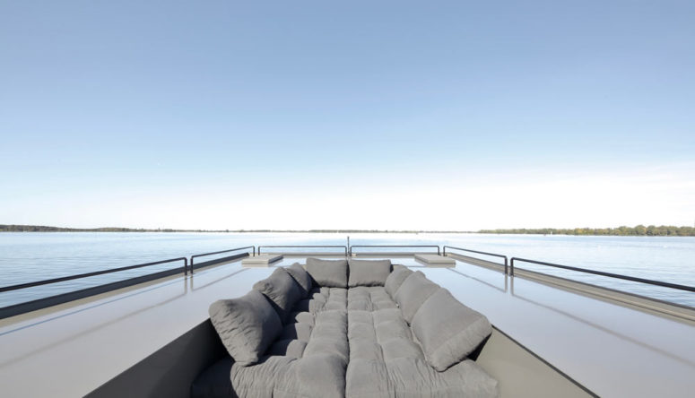 The sofas can be easily transformed into a comfortable sleeping space for two