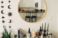 23 black celestial wall hangings can be placed anywhere to bring a slight celetial feel to your space