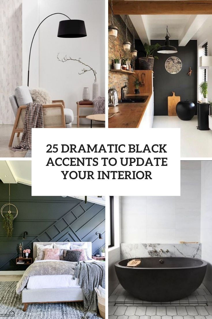 dramatic black accents to update your interior cover