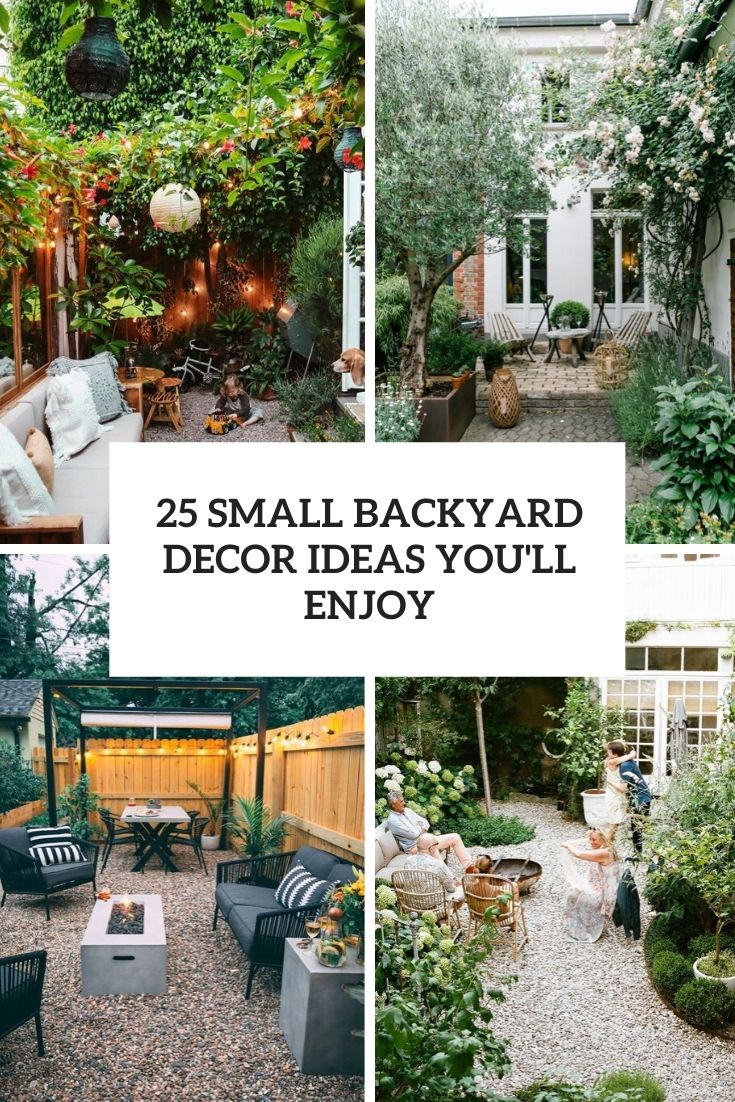 25 Small Backyard Decor Ideas You'll Enjoy
