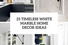 25 timeless white marble home decor ideas cover