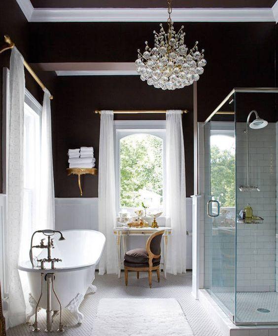 25 Refined Brown Bathroom Decor Ideas Digsdigs