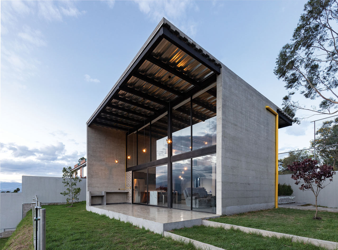 This house in Ecuador features an ultra contemporary design and is inspired by the exposed concrete it's made from