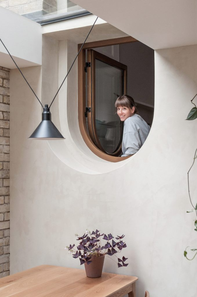 There's a lovely arched window to bring more natural light inside