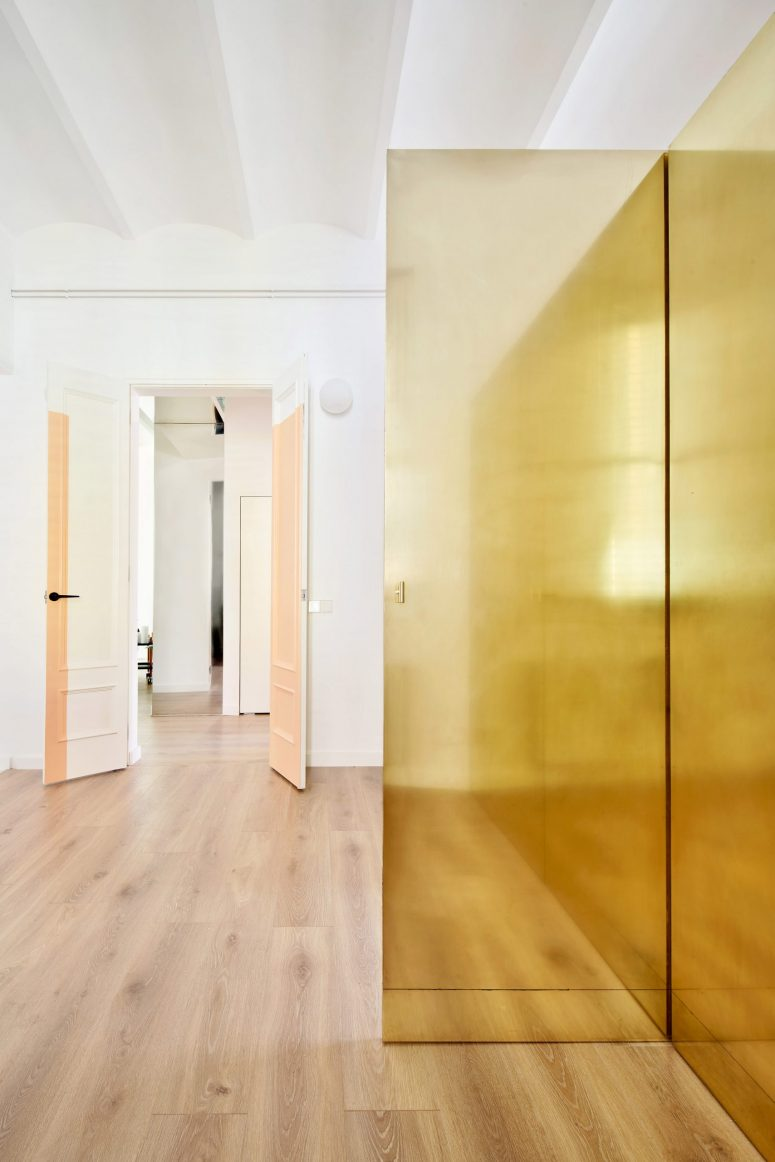 This wardrobe has a corridor inside it and it allows passing through it easily when needed