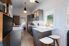 grey kitchen deisgn for a tiny home