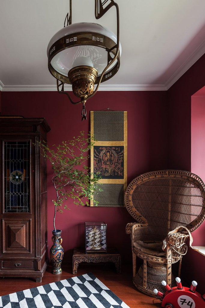 an eclectic interior is always so unique