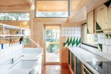 a cozy kitchen design with lots of wood