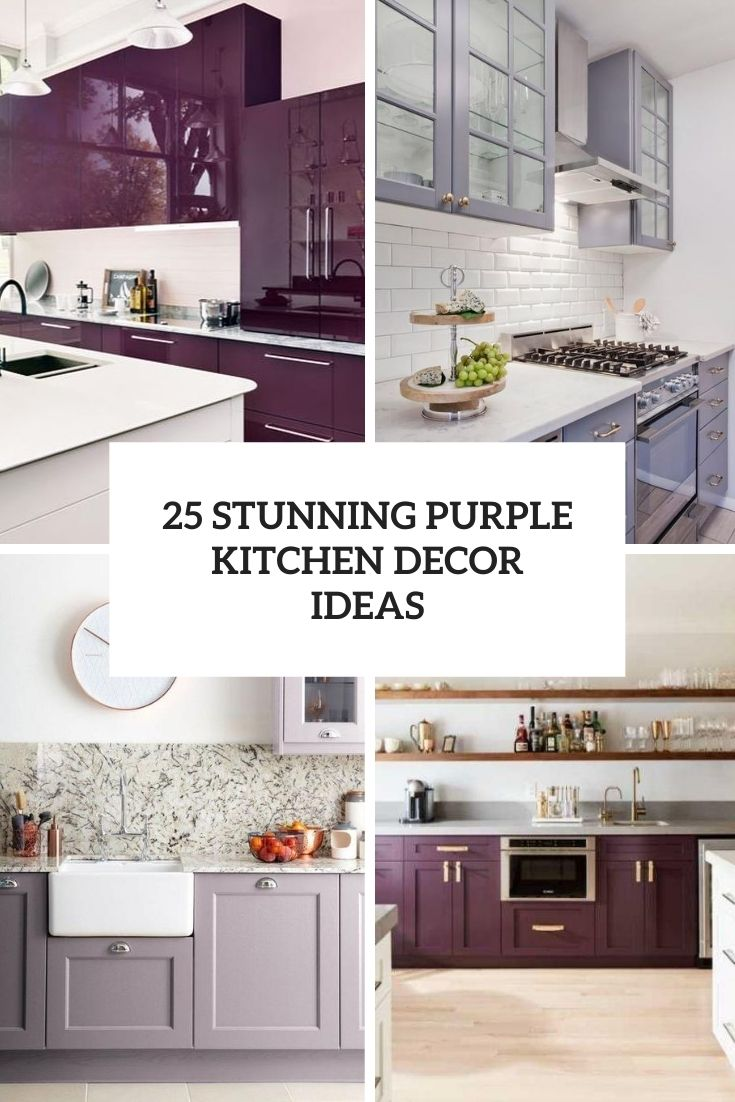 25 Stunning Purple Kitchen Decor Ideas