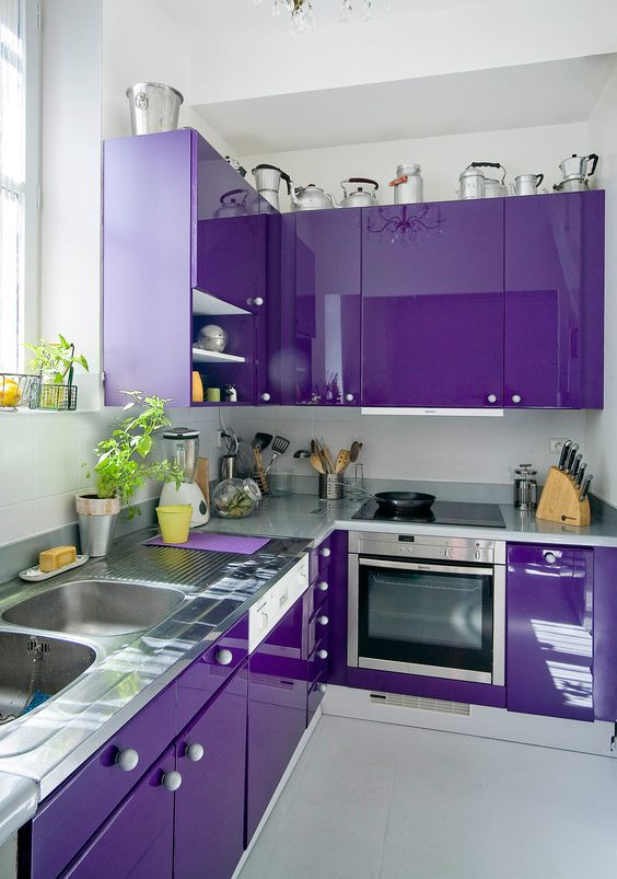 25 Stunning Purple Kitchen Decor Ideas Digsdigs