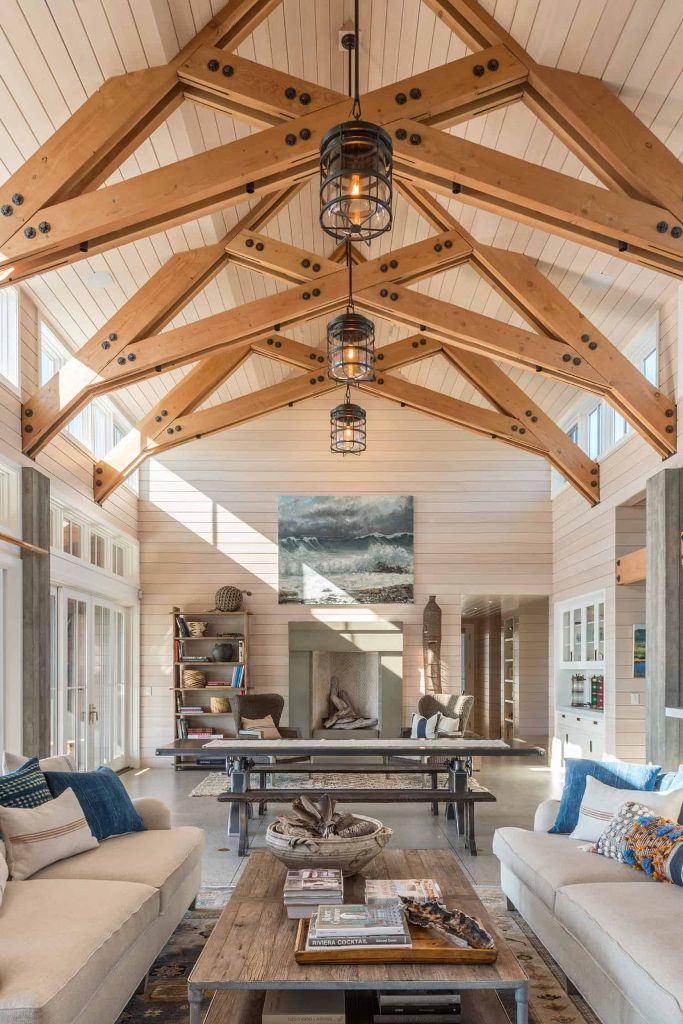 This fantastic home is a waterfront retreat with truly coastal interiors, which embrace the sea