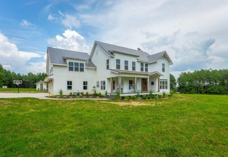 This modern farmhouse was custom built on Signal Mountain, Tennessee