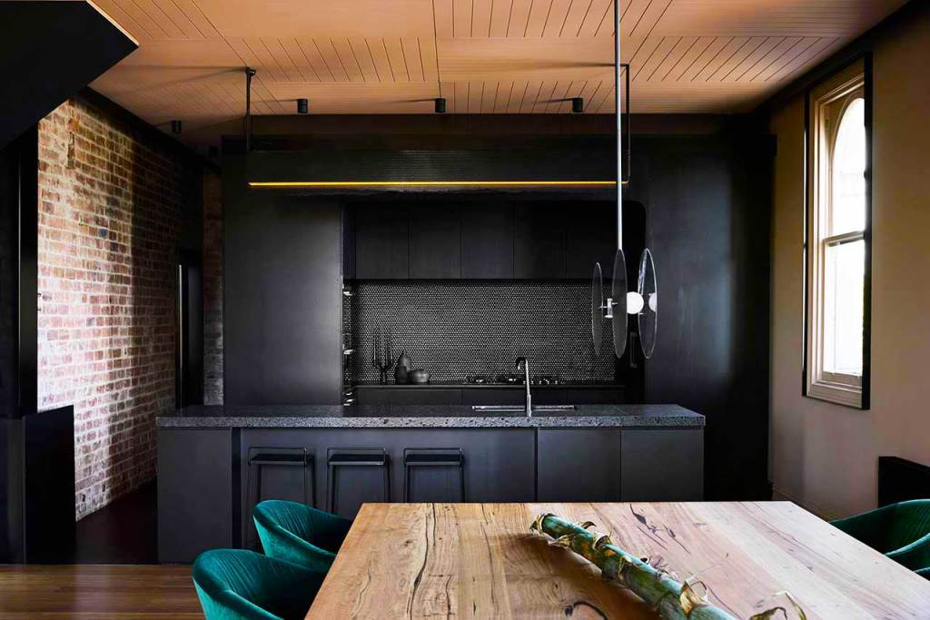 This super stylish home has an industrial past, which was preserved and used in its current decor