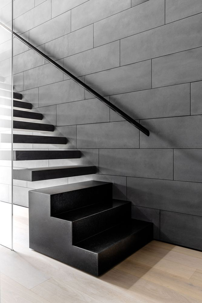 a modern and stylish floating staircase design
