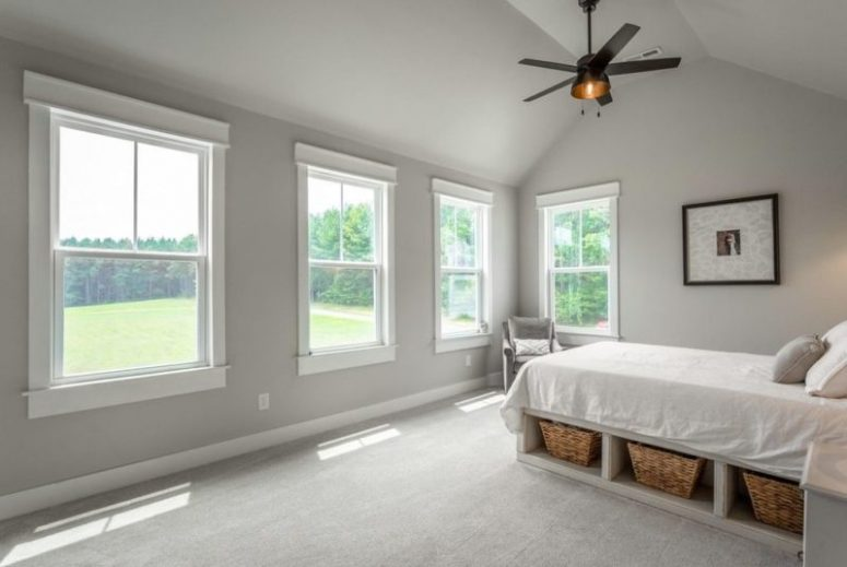 All three additional bedrooms have tons of space and access to an upstairs carpeted bonus room