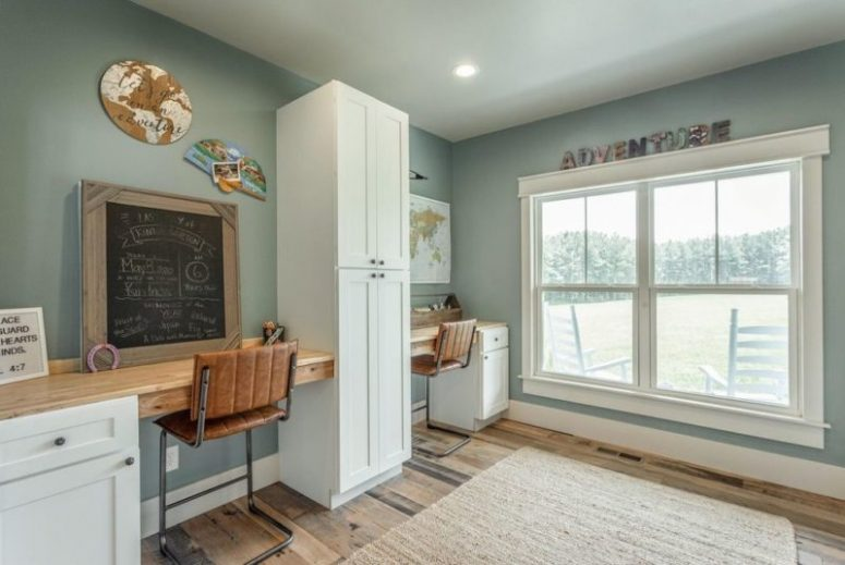 This is a kids' study nook, which can be also used as a home office
