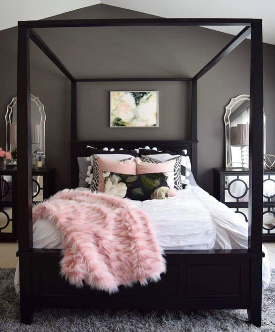 25 Refined Pink And Black Bedroom Decor Ideas Digsdigs