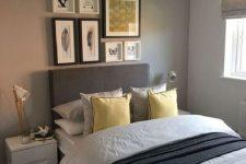 a modern grey bedroom design