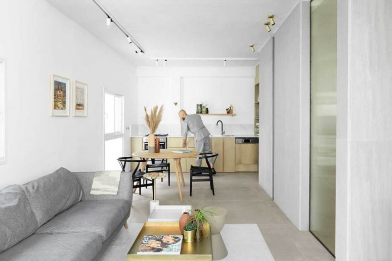This contemporary apartment is hotel like but it's very cozy and personalized, for new urban lifestyle