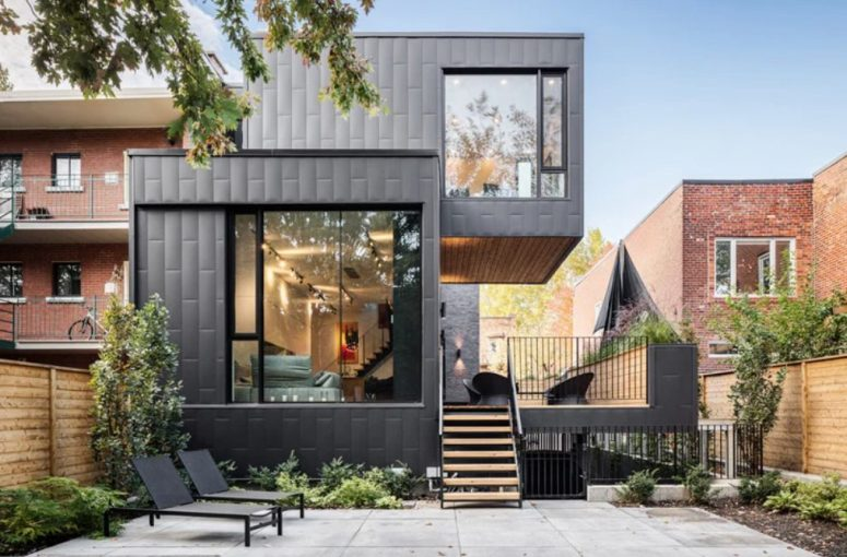 Contemporary Townhouse Added To 1880s Duplex Restoration