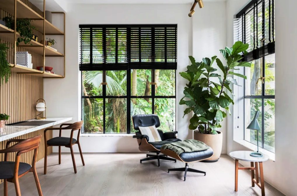 This stylish Hong Kong apartment is created for a family of four where both parents work from home
