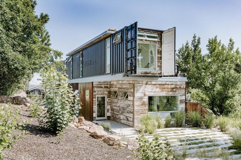 It's built with net-zero energy consumption in mind, there are solar panels and foam insulation