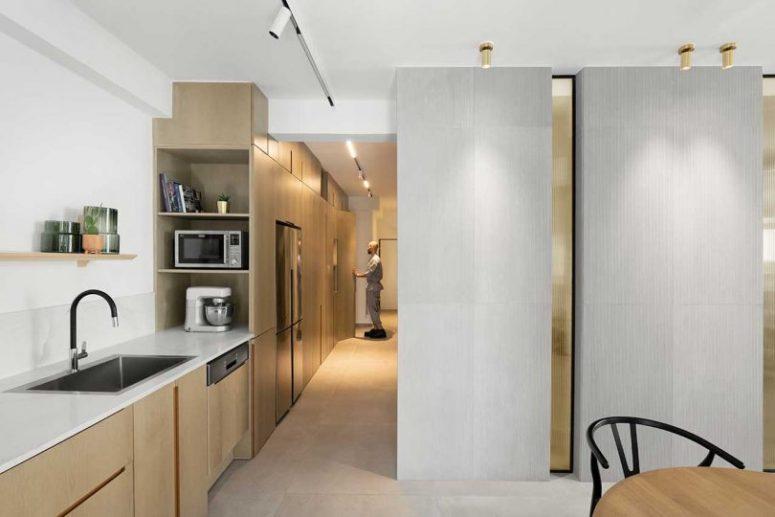 cool storage solution in a kitchen