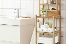 25 a Ragrund shelving unit by IKEA will be a perfect option for a modern or contemporary bathroom