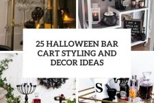 25 halloween bar cart styling and decor ideas cover