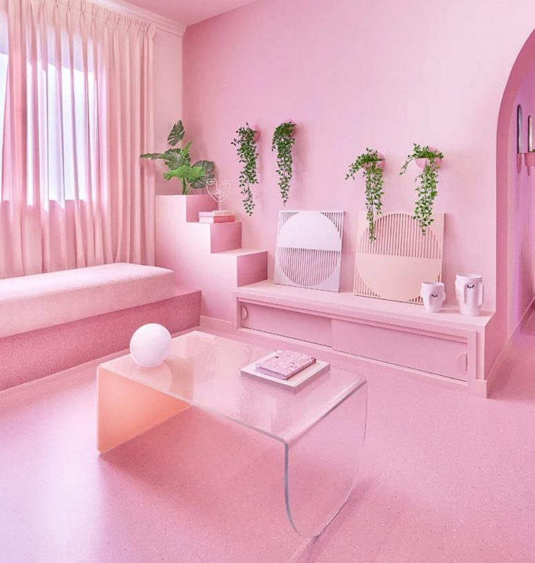 'Minimal Fantasy' Apartment In All Shades Of Pink