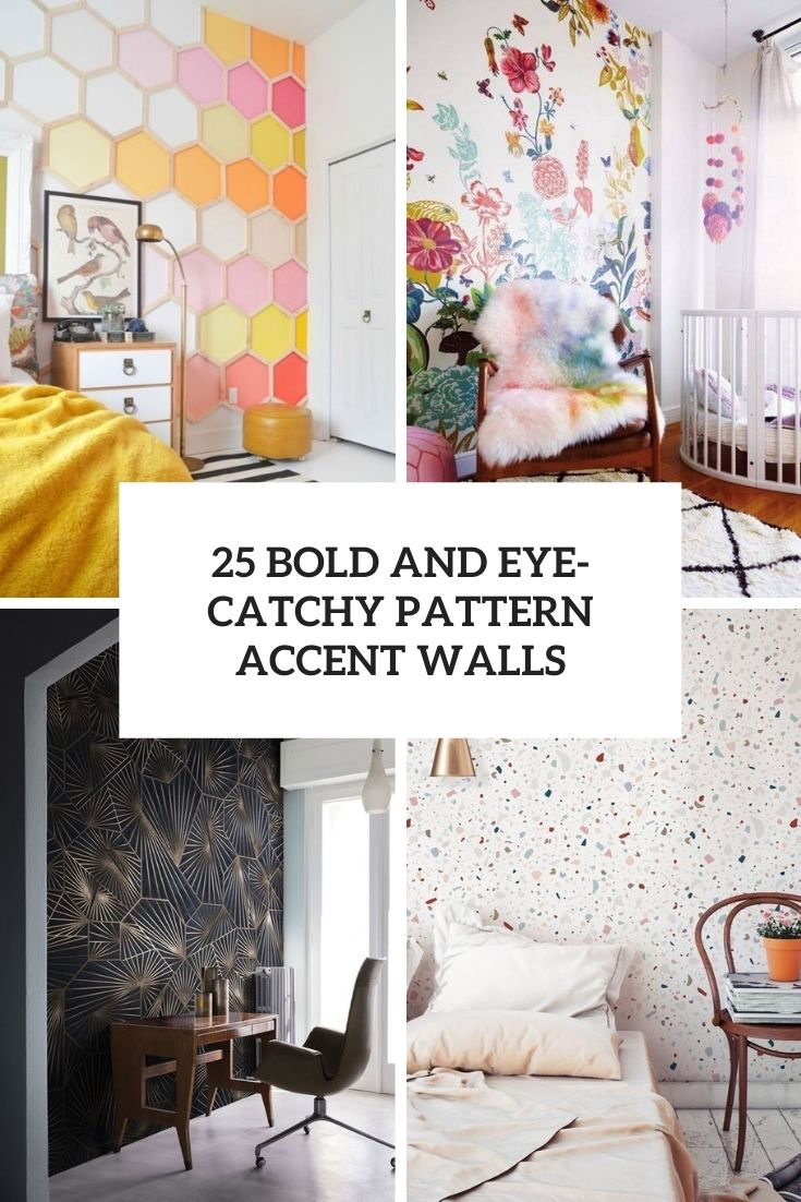 bold and eye catchy pattern accent walls cover