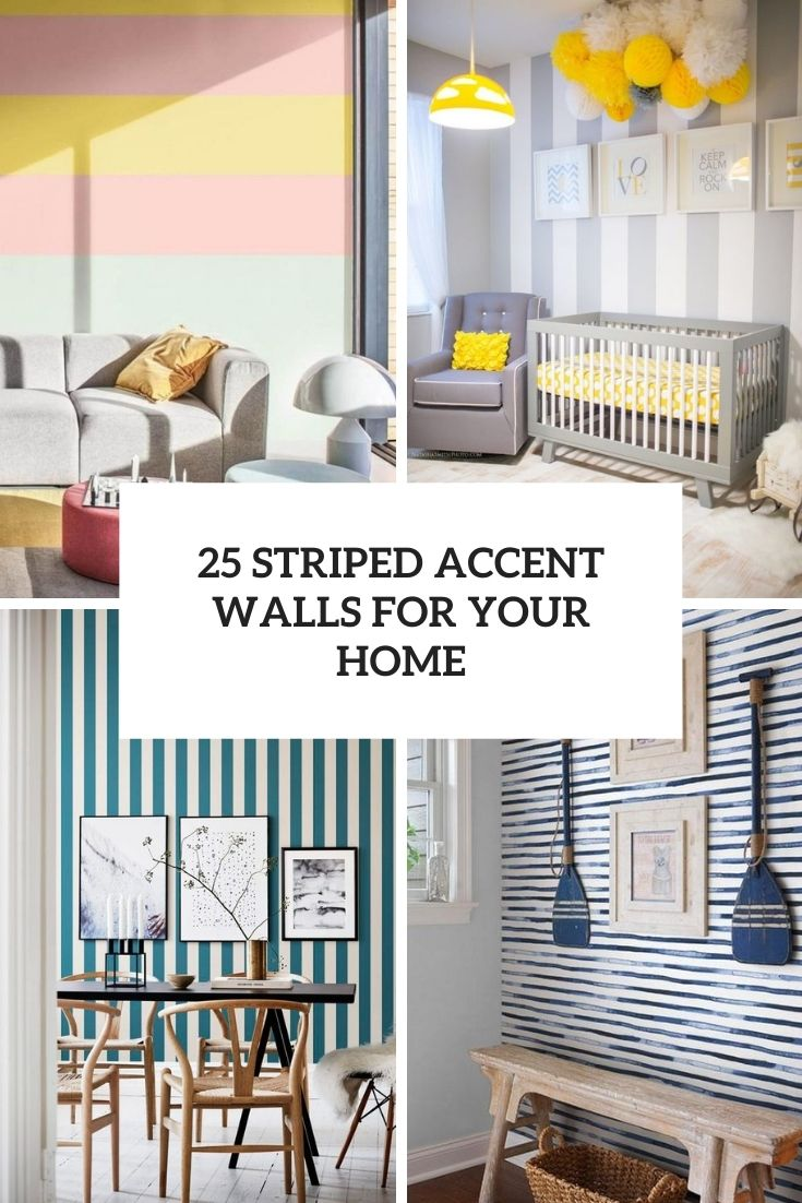 striped accent walls for your home cover