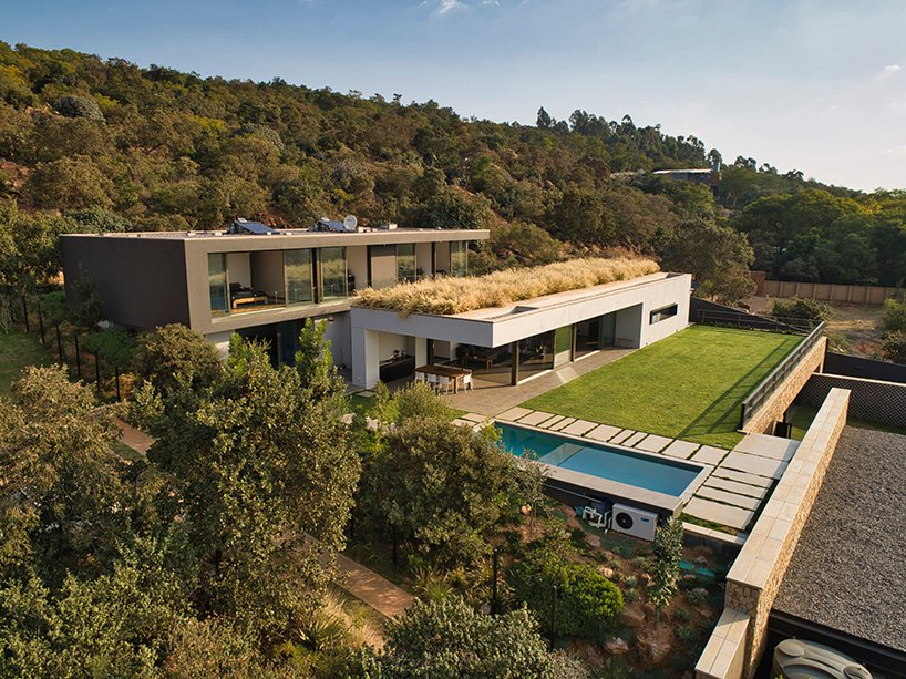 This contemporary dwelling is built in several levels and features viewing platforms to make most of the views