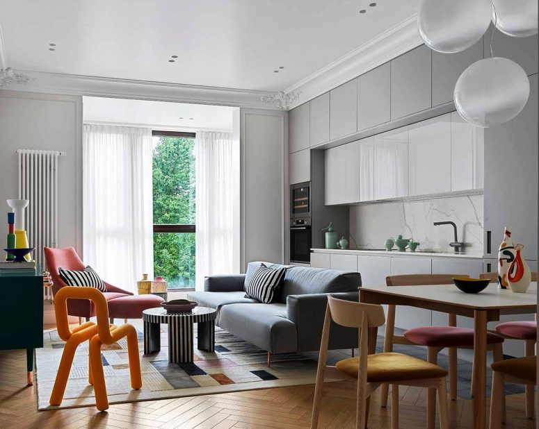 Colorful Apartment In Moscow With A Parisian Feel