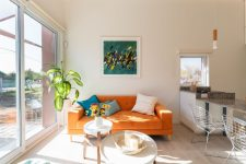 an accent color is perfect for minimalist spaces