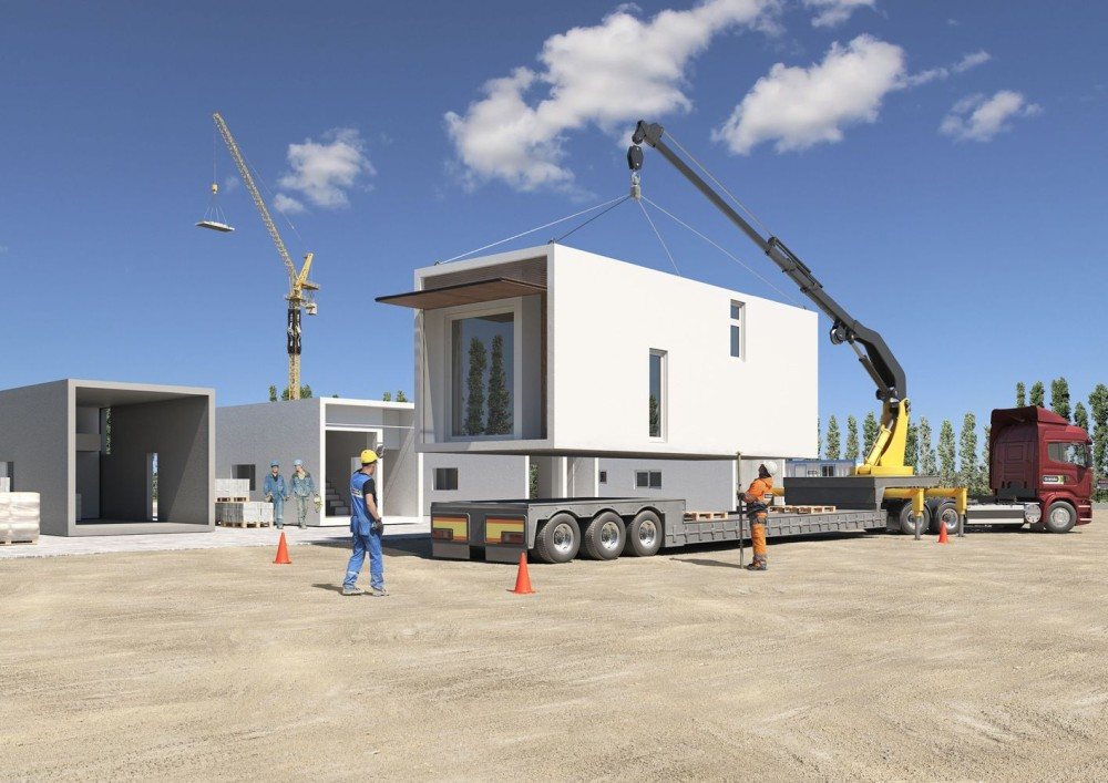 The structural frame of the house is lightweight and can be transported via truck