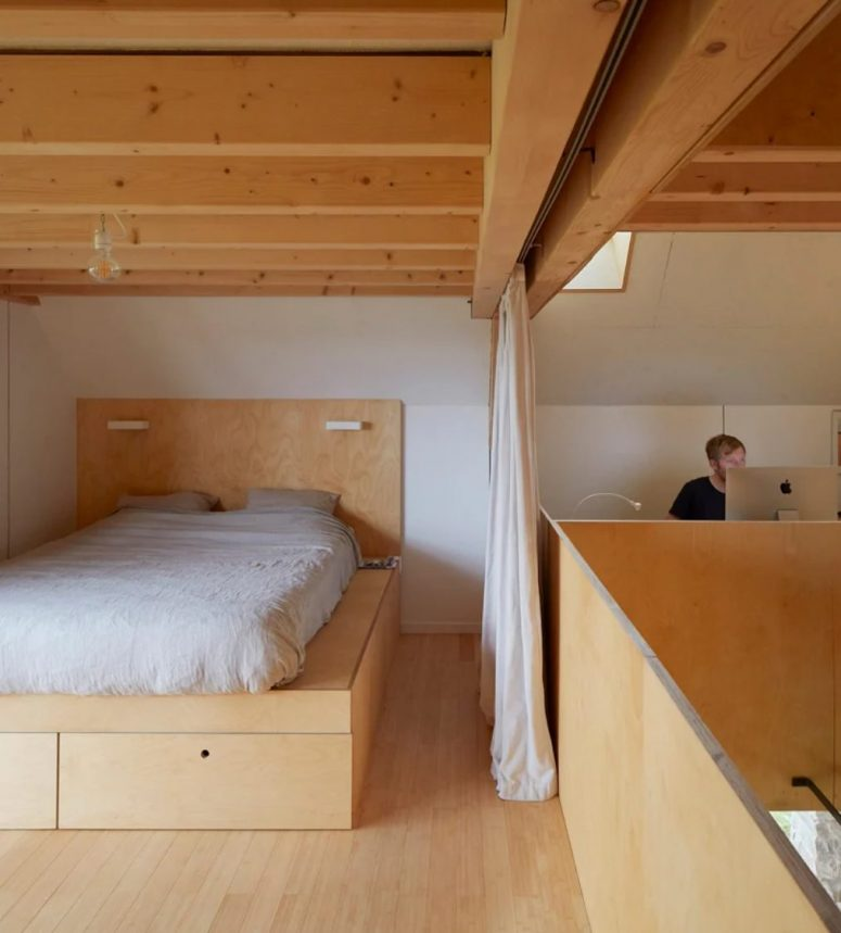 a platform bed is a quite practical solution for a bedroom