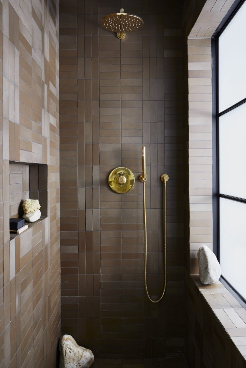 small but stylish shower space