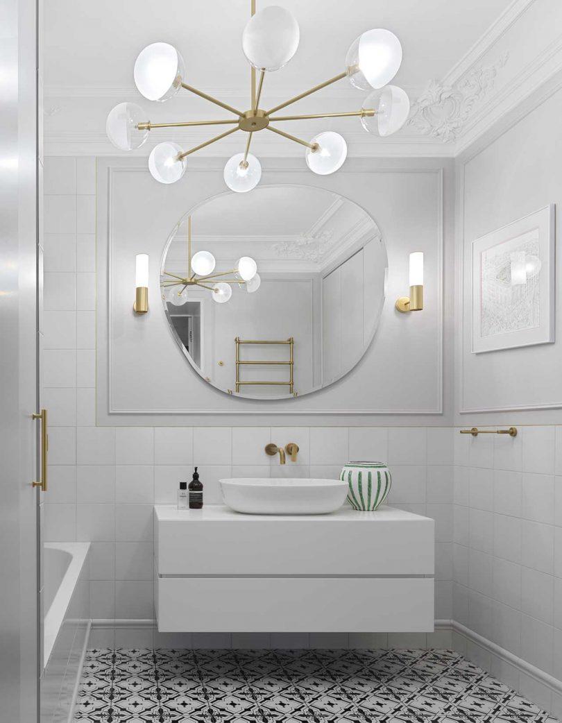 white bathroom design always works