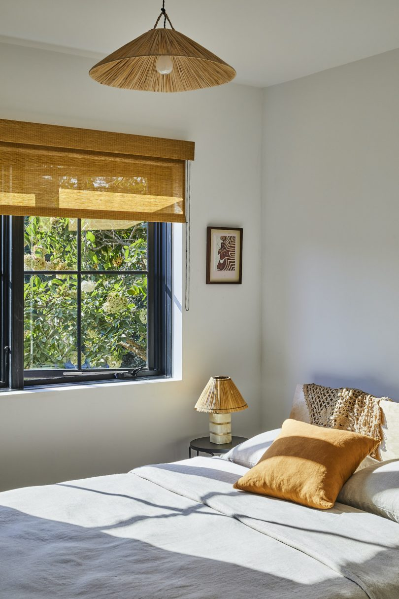 Another bedroom is smaller but features all the necessary things and again bold artworks