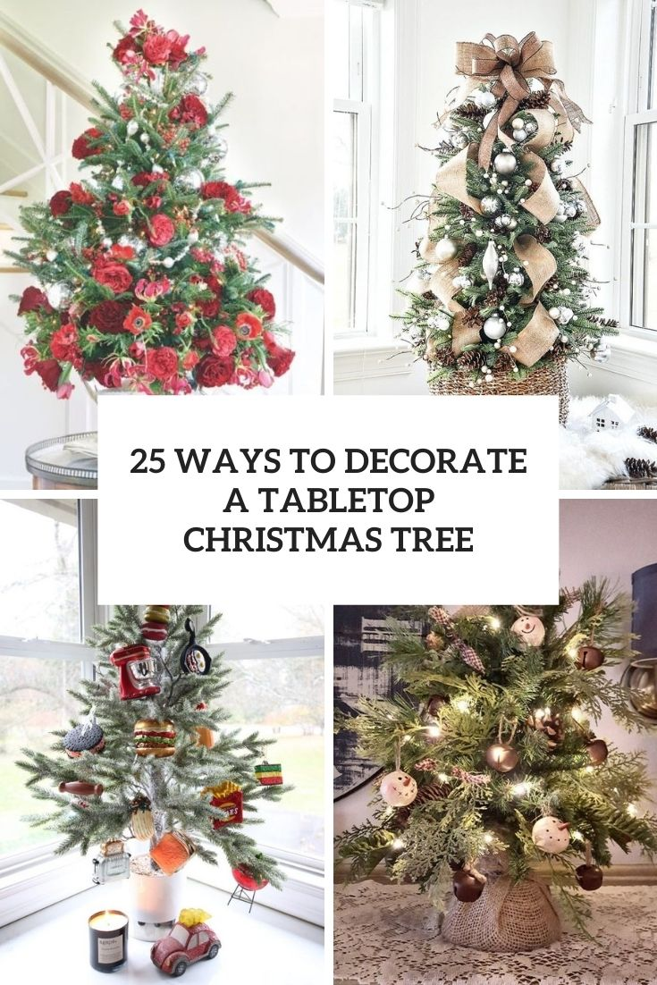 ways to decorate a tabletop christmas tree cover