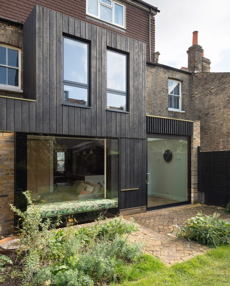 Victorian Townhouse In London With A Charred-Wood Extension
