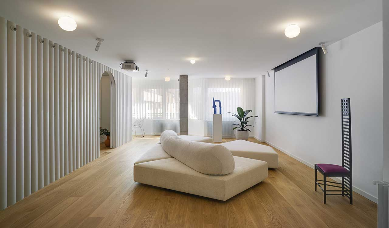 This contemporary apartment in Spain was redone after the renovation as the owner wasn't happy with the result