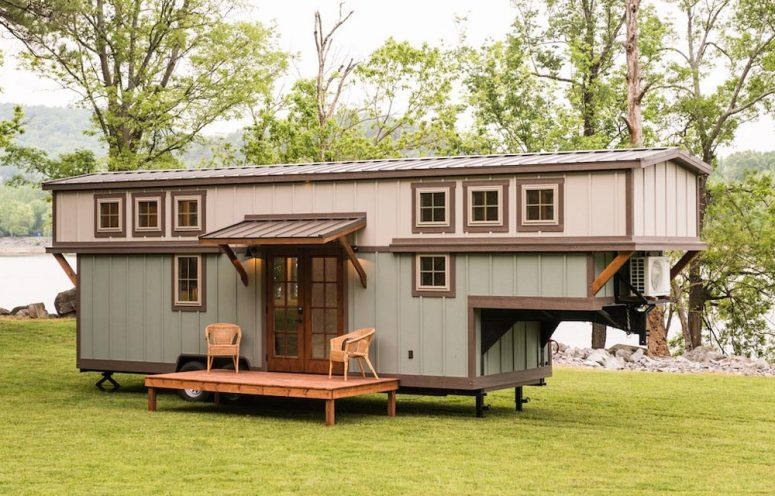 Luxurious Craftsman-Style Tiny Trailer House