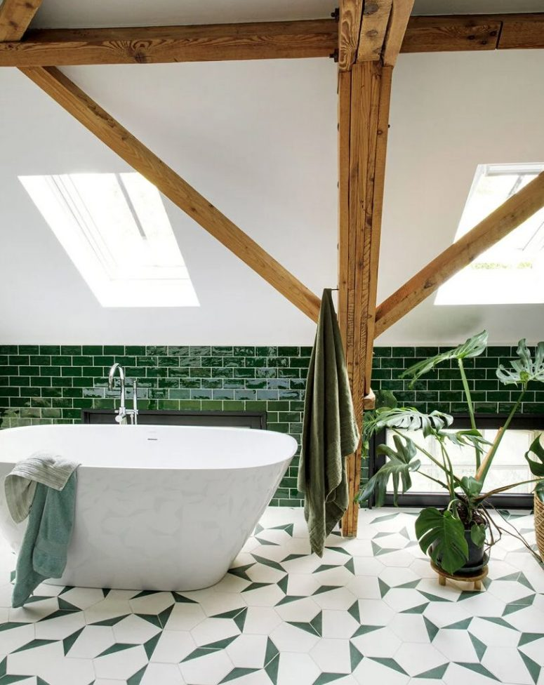 a practical and super stylish bathroom design