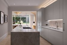 a functional kitchen design in minimalist style